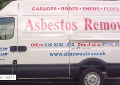 Asbestos Removal Van